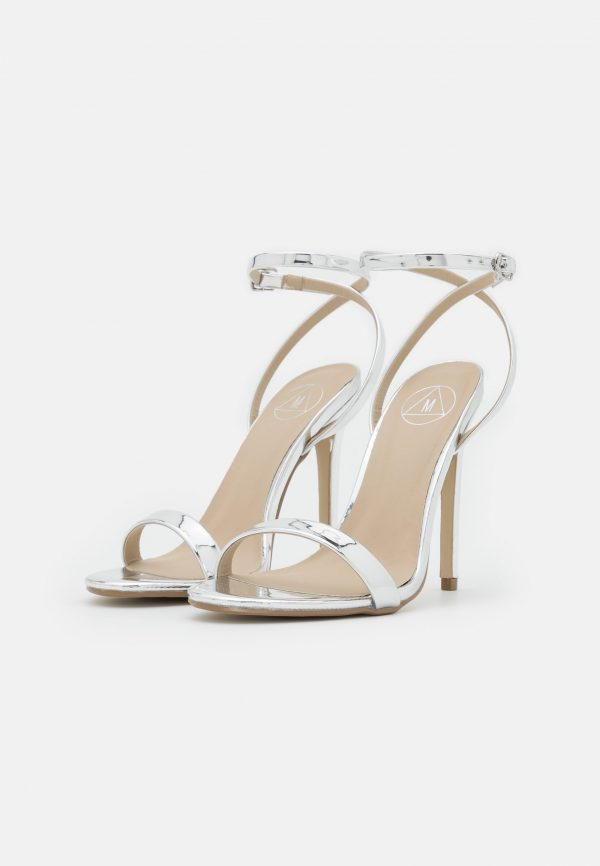 Missguided Silver Strappy Heels